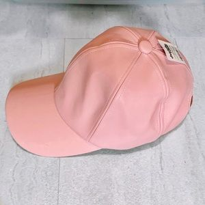 Faux Leather Pink Cap new with tags